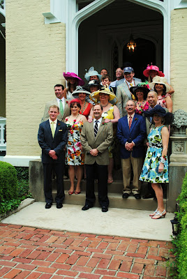 the men and women dressed in derby finery getting ready to go to the track on derby day