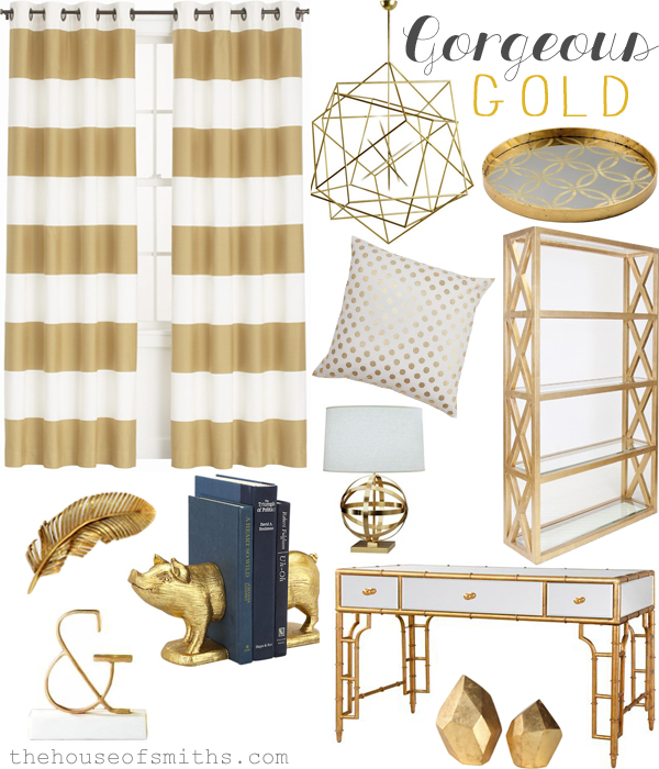 2013 Home Trends We Love Gorgeous Gold