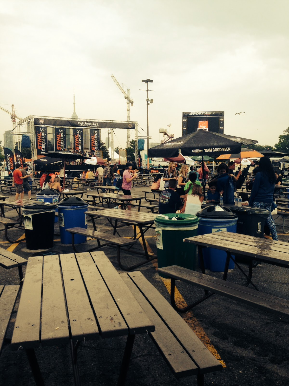 The seating area for Tastefest