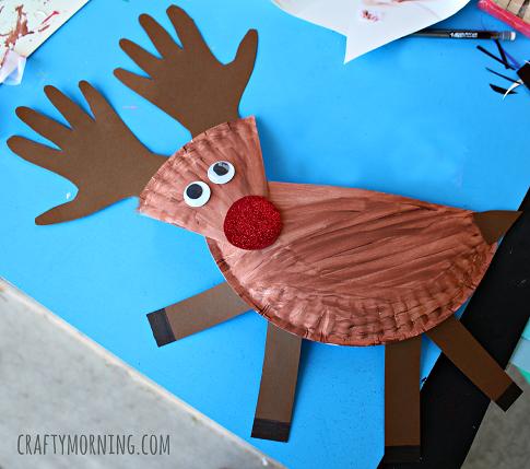 Okul ncesi sanat ve fen etkinlikleri ka t tabak ile for Reindeer project