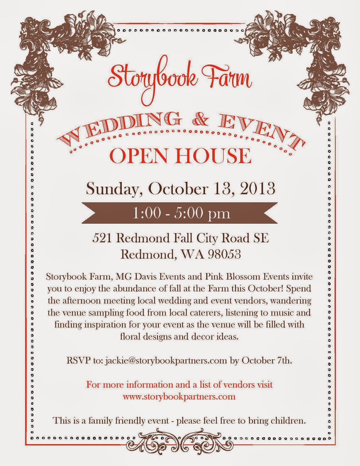 Storybook Farm Wedding Event Open House