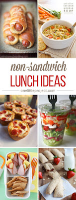 35 Non-sandwich Lunch Ideas, shared by One Little Project