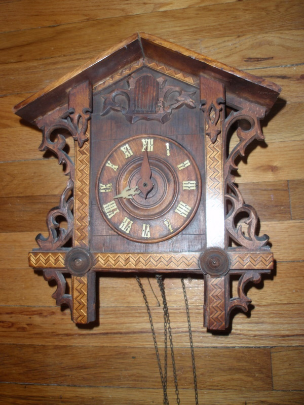 internet superstores antique wooden coo coo clock 13 tall