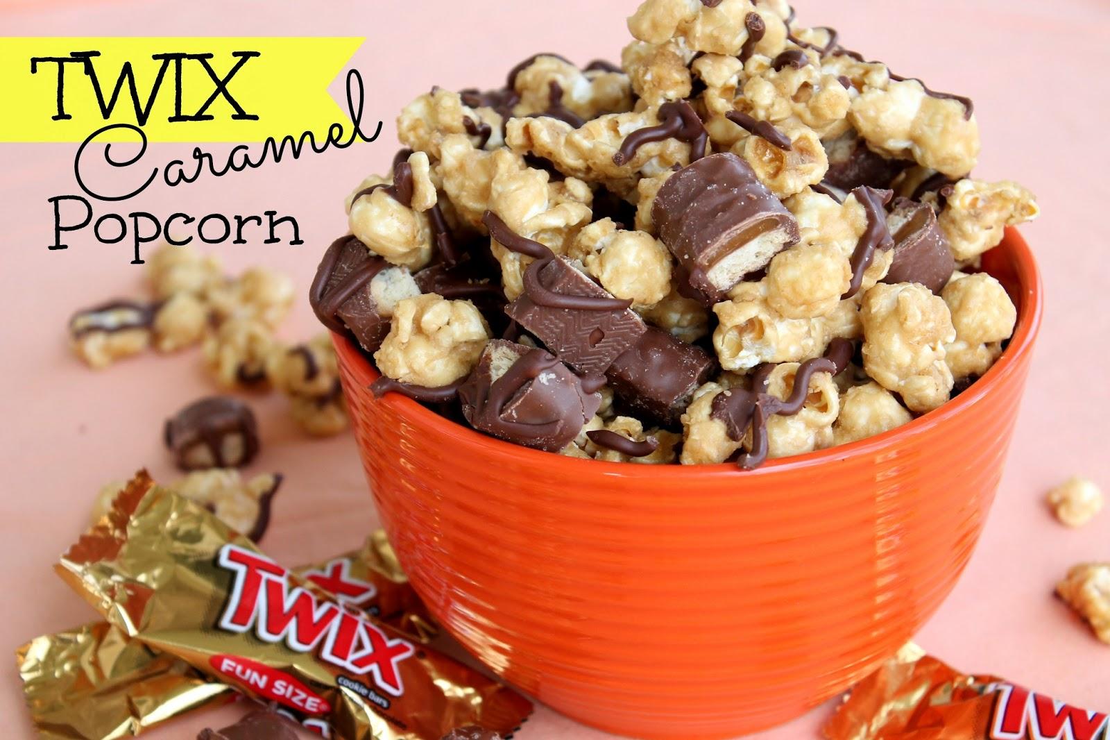 Twix Caramel Popcorn Recipe | Six Sisters' Stuff