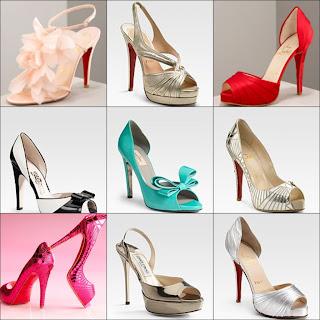 Sapatos femininos para festas de casamento em diversos estilos e modelos