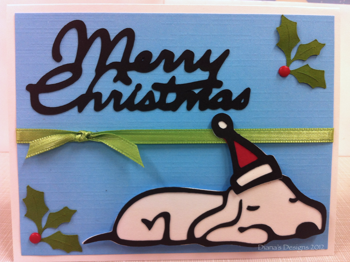 Cricut Paper Pups Christmas Card with Holly