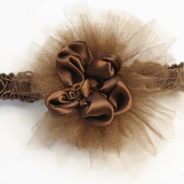 Flower Headband Tutorial: Tulle Headband