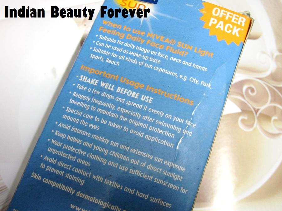 Nivea Sun Fluid sunscreen with SPF 50 Review