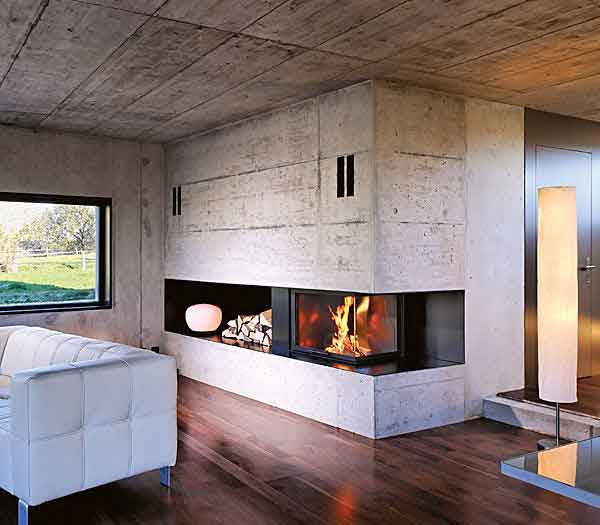 Fotos de diferentes tipos de chimeneas proyectos de casas - Chimeneas en esquina ...
