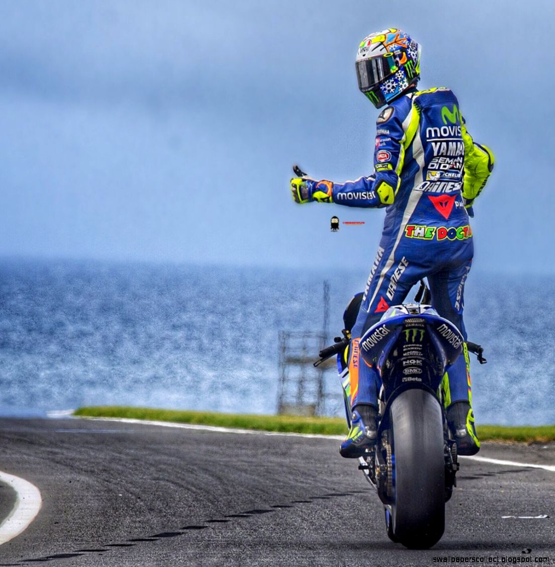 Valentino Rossi The Doctor Hd Wallpaper For Wallpapers | Wallpapers Collection