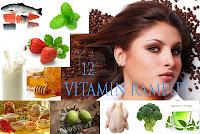 12 vitamin untuk rambut