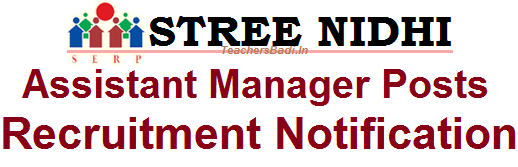SERP Telangana, Stree Nidhi, Assistant Manager Posts