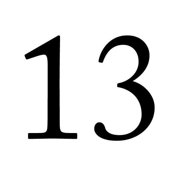 Esp the number 13 lucky or unlucky for Superstition chiffre 13