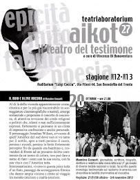 """Il mio monologo """"Il buio e oltre ancora"""" al Teatro Aikot27."""