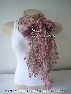 cachecol renda, cachecol leve, croche, cachecol de croche, cachecol feminino