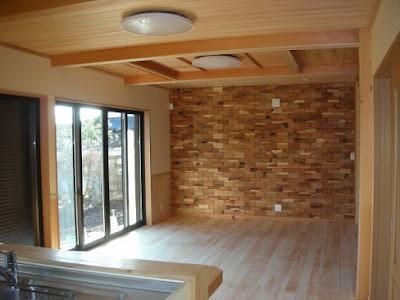 木煉瓦 壁