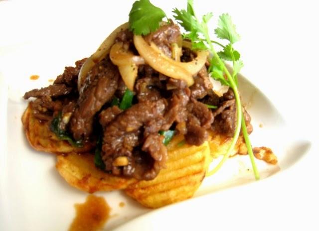 Khoai tây xào thịt bò thơm ngon