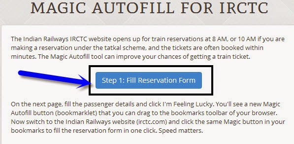 IRCTC Magic Autofill Form