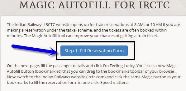IRCTC Magic Autofill Form
