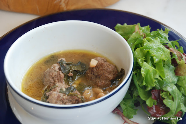 meatball, white bean and chard soup