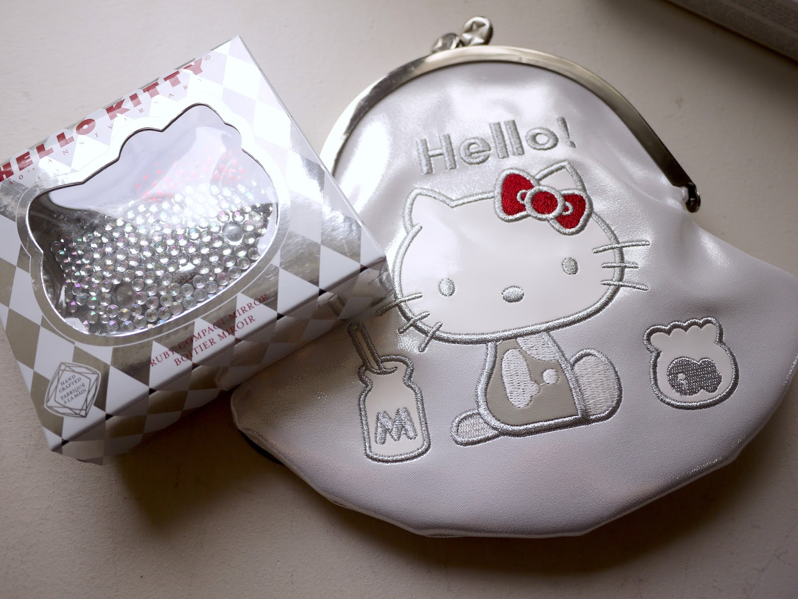 Sephora Hello Kitty Milk Money Makeup Bag and Ruby Compact MIrror review