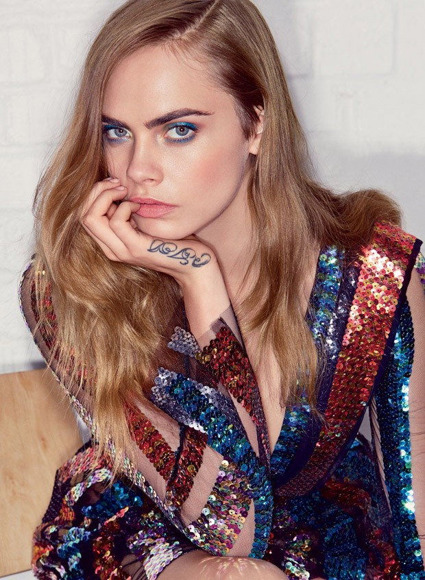Cara Delevingne is glamorous for  Vogue US July 2015
