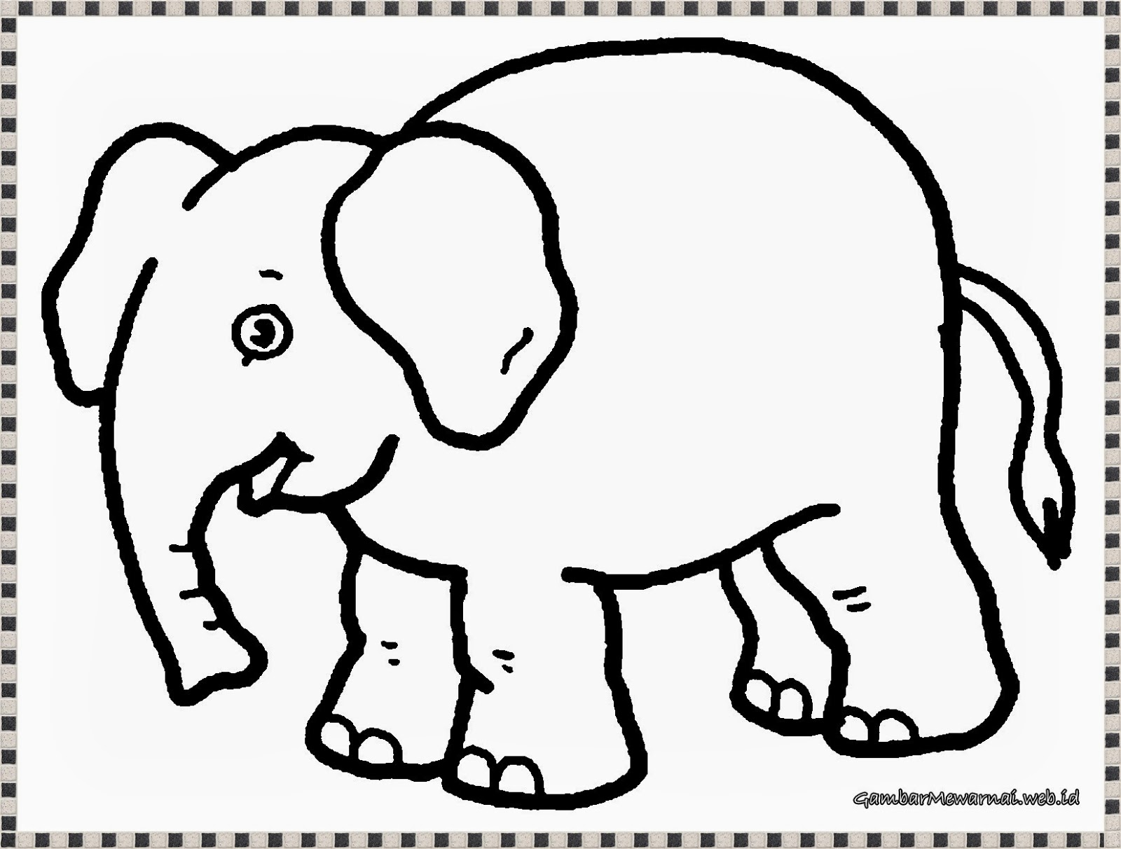 Gambar Mewarnai: Gambar Mewarnai Gajah - GambarMewarnai.Web.Id