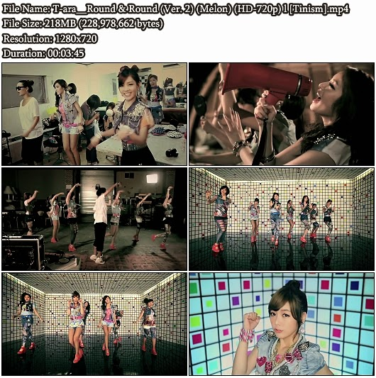 Download MV T-ara (티아라) - Round and Round (빙글빙글) (Version 2) (Melon HD 720p)