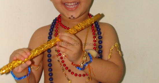 how to dress baby like krishna