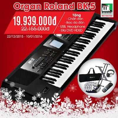 khuyen mai dan organ roland bk5 cuoi nam