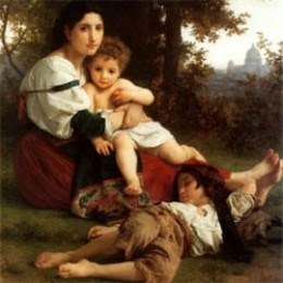 william adolphe bouguereau mother and children art poster