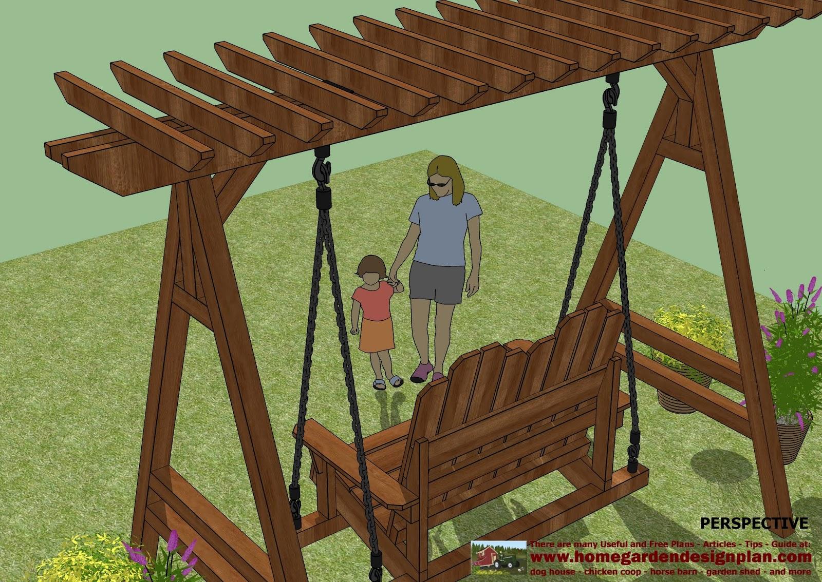 home garden plans: SW101 - Arbor Swing Plans Construction - Graden ...