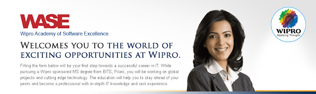 Opportunities for science Graduates at wipro WASE 2012