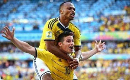 Video Cuplikan Gol Kolombia VS Yunani 3-0 Piala Dunia Brazil 2014