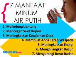 kelebihan minum air masak