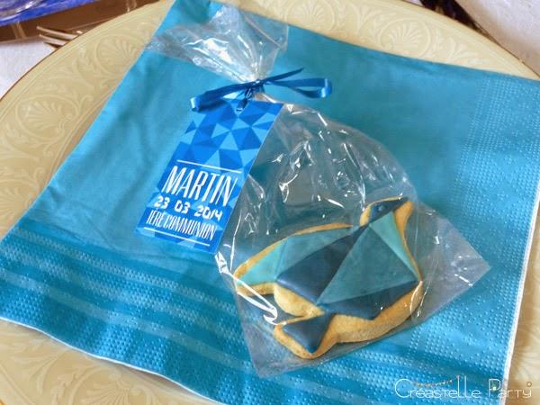 sweet table colombe origami sablé décoré cadeau