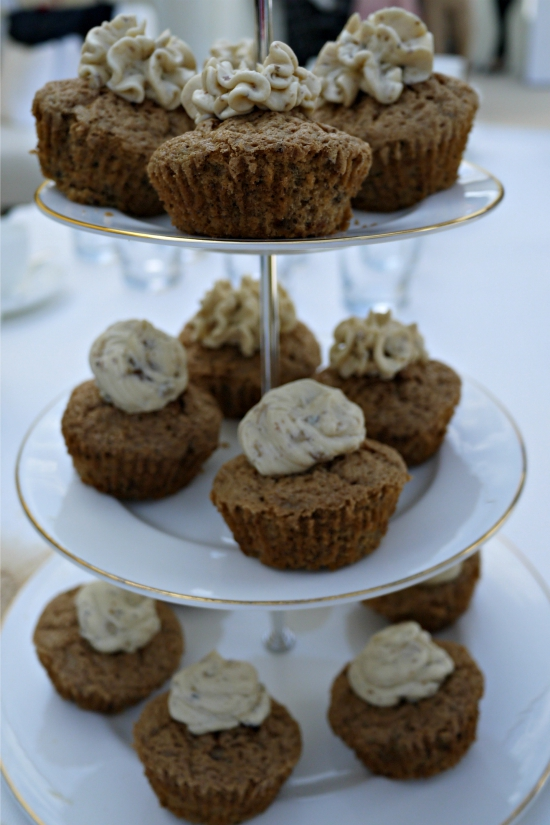 Carrot and walnut cupcakes at Jaeger-LeCoultre VIP Enclosure