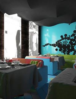 Colorful Interior Design for Restaurant