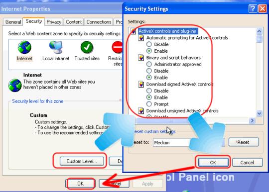 enable activex