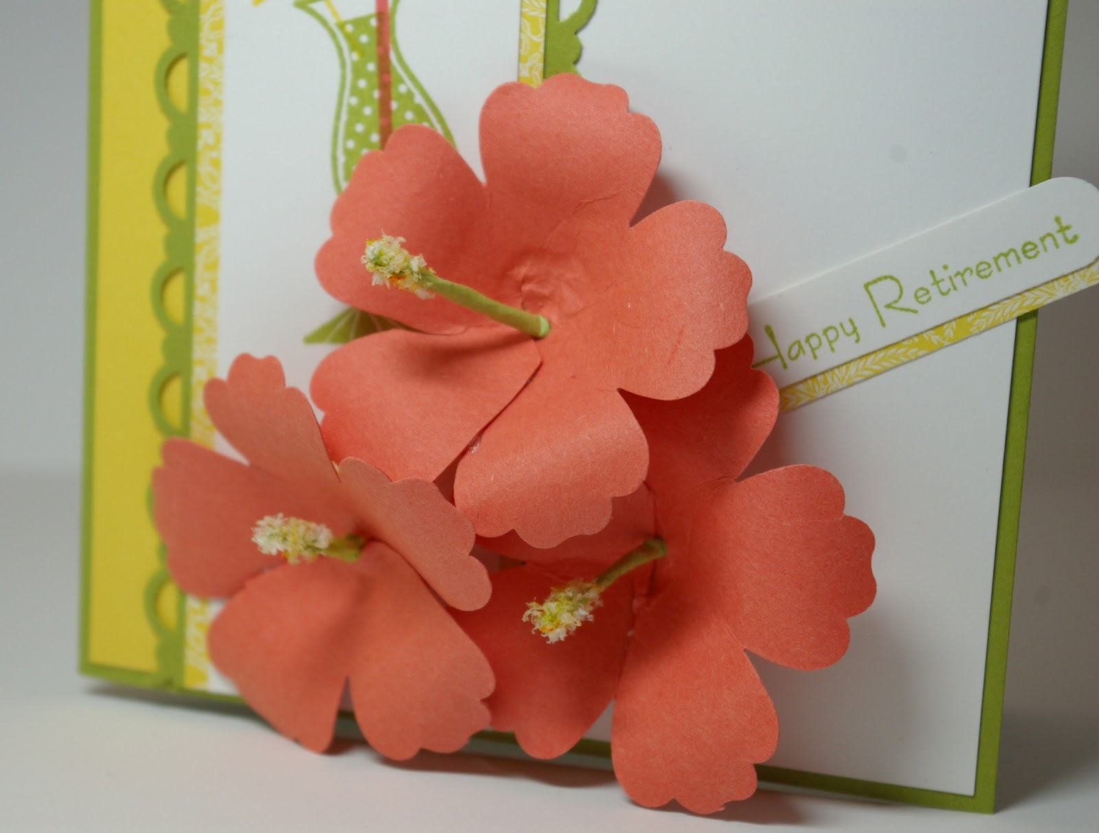 greyt paper crafts  happy hibiscus