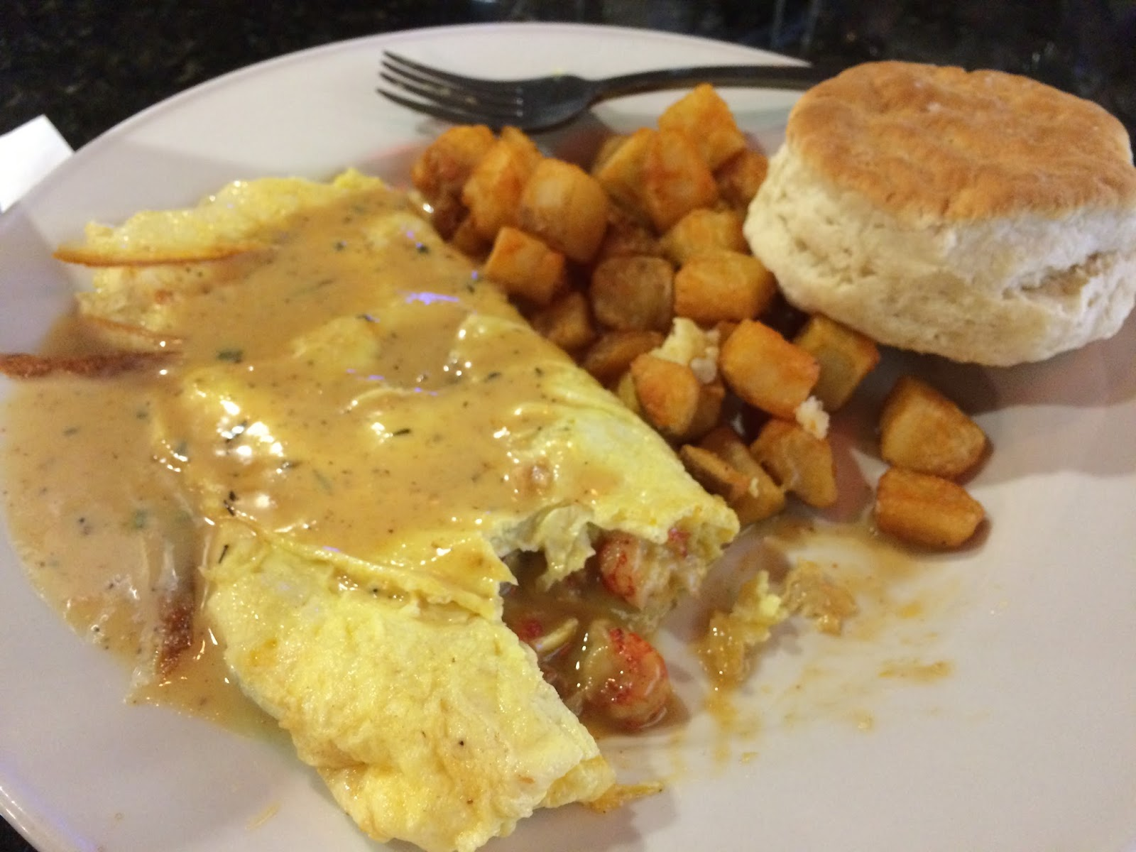 New Orleans style omelette