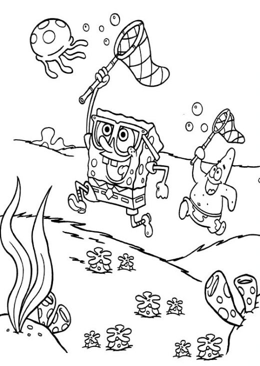 Jellyfish from spongebob coloring pages
