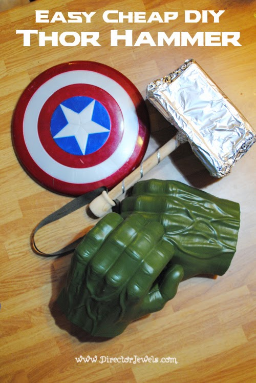 Easy Cheap DIY Thor Hammer from a Baby Wipes Box | Tutorial at directorjewels.com