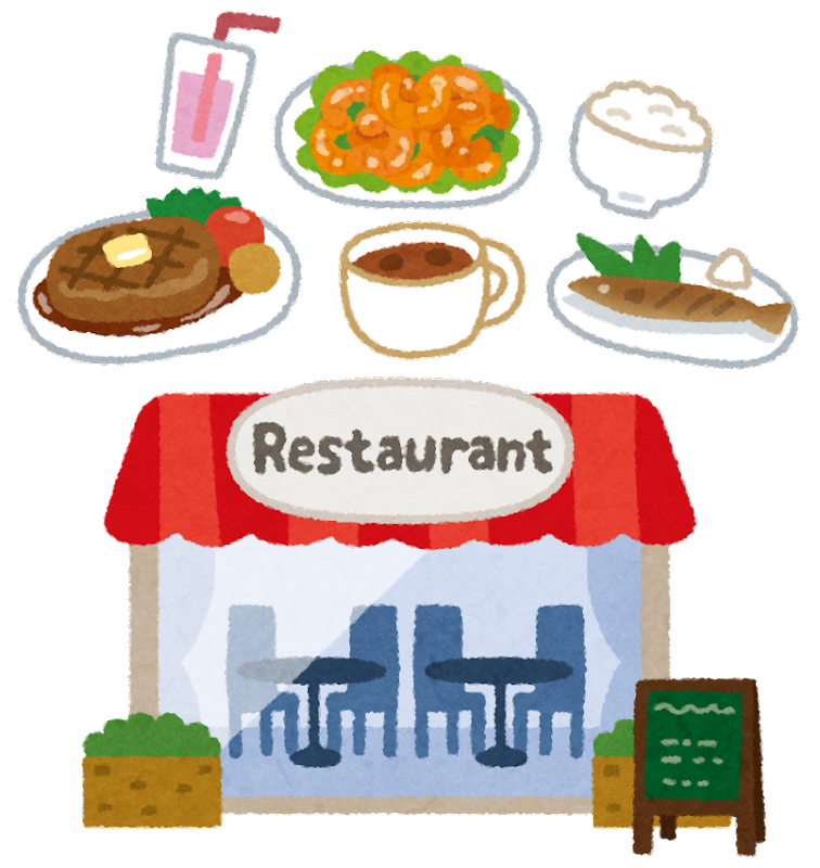 「外食 イラスト」の画像検索結果