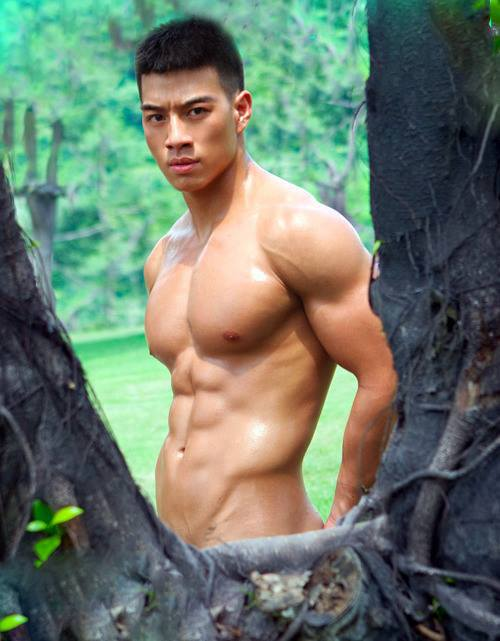 Hot asian man nude