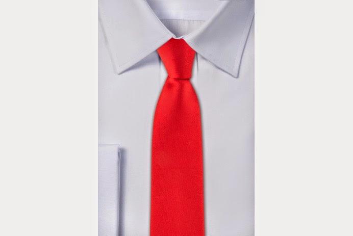 Krawat w kolorze czerwonym - pewienpan.pl