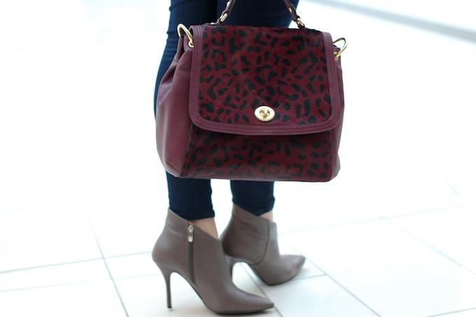 Leopard Coach bag Vintage men's blazer Covet and ACquire Vancouver fashion blog