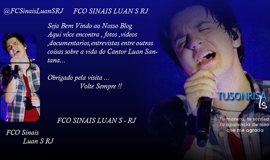 Fa Club Sinais Luan Santana do Rio de Janeiro