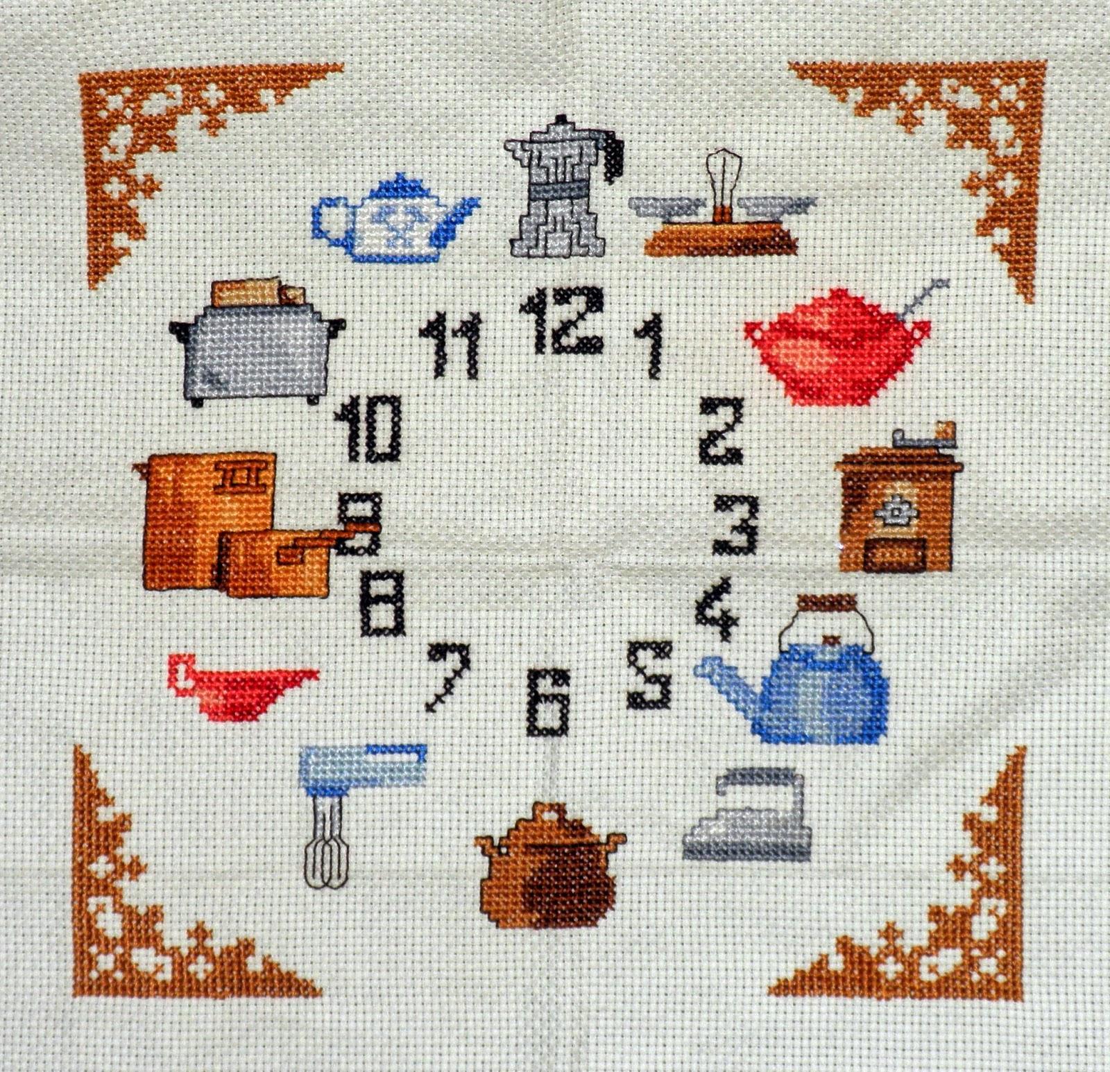 Bordados ganchillo y punto reloj de punto de cruz para - Punto de cruz cocina ...