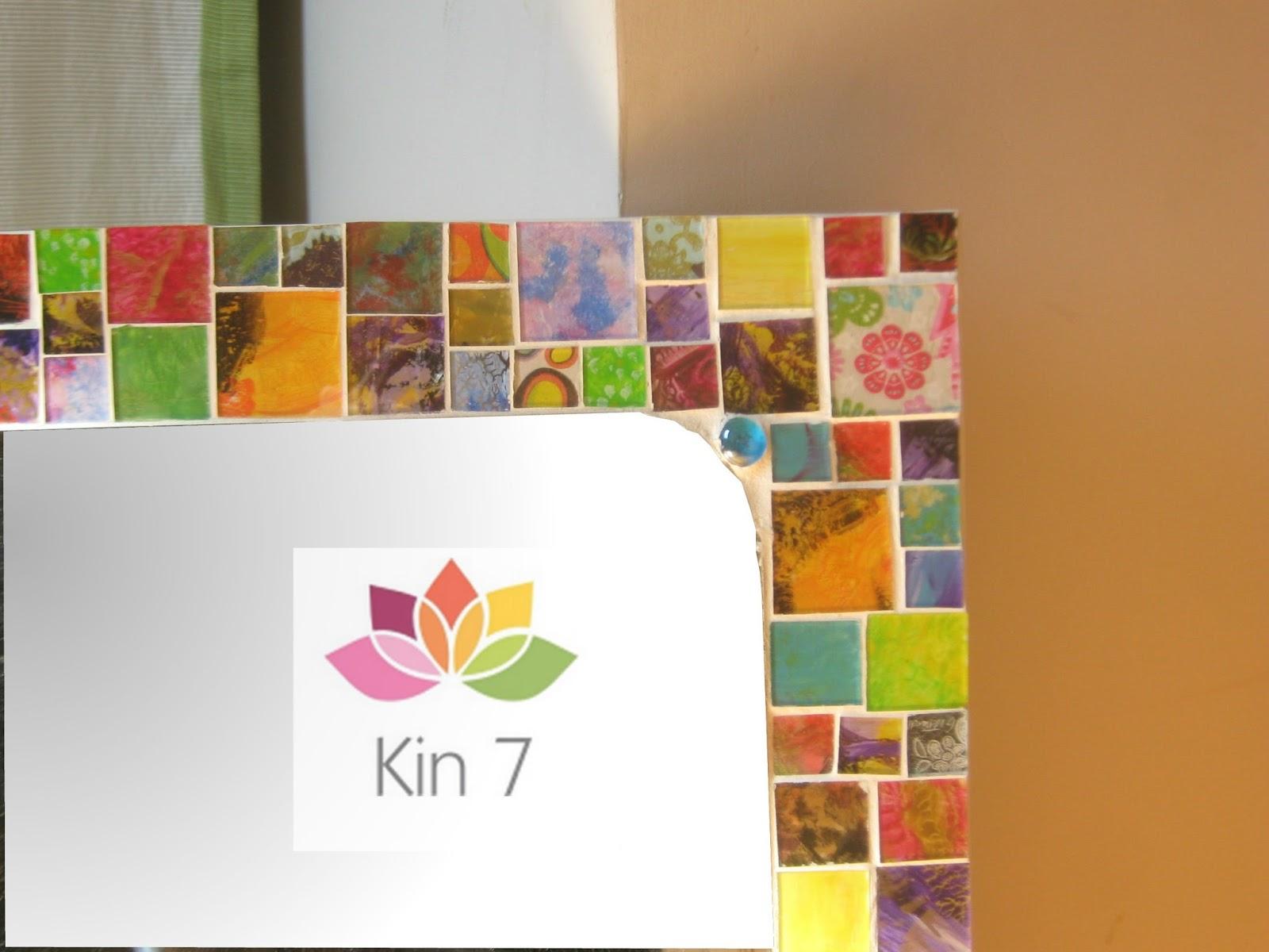 Kin 7 deco espejo con teselas artesanales for Espejos artesanales